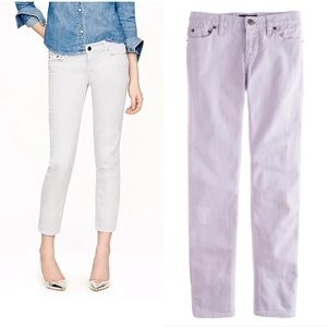 J. Crew Cropped Matchstick Garment-Dyed Jean